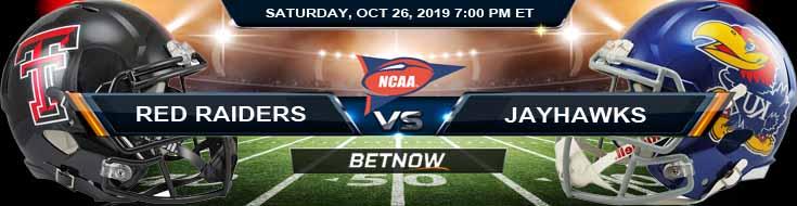 Texas Tech Red Raiders vs Kansas Jayhawks 10-26-2019 Picks Odds and Previews