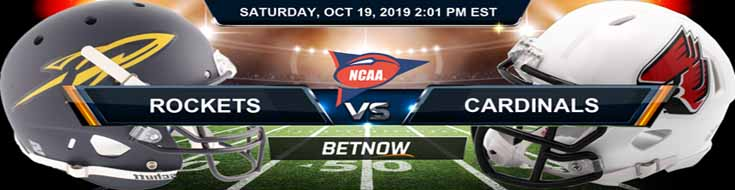 Toledo Rockets vs Ball State Cardinals 10-19-19 NCAAF Expert Picks and Preview