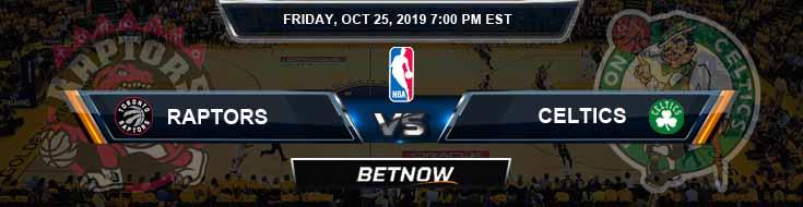 Toronto Raptors vs Boston Celtics 10-25-2019 NBA Game Analysis and Prediction