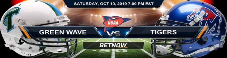 Tulane Green Wave vs Memphis Tigers 10-19-19 Odds, Picks and Preview