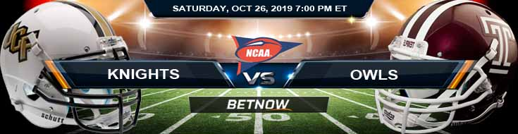 UCF Knights vs Temple Owls 10-26-2019 Picks Odds and Game Analysis