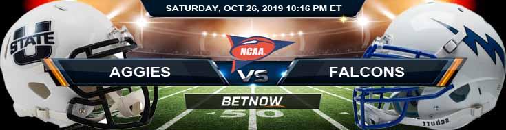 Utah State Aggies vs Air Force Falcons 10-26-2019 Game Analysis Picks Odds