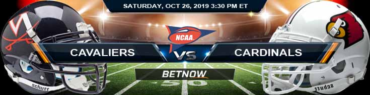 Virginia Cavaliers vs Louisville Cardinals 10/26/2019 Picks Predictions Odds