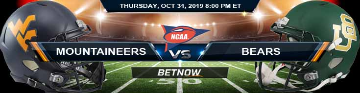 West Virginia Mountaineers vs Baylor Bears 10-31-2019 Odds Predictions and Picks