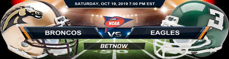 Western Michigan Broncos vs Eastern Michigan Eagles 10-19-19 Odds, Picks and Preview