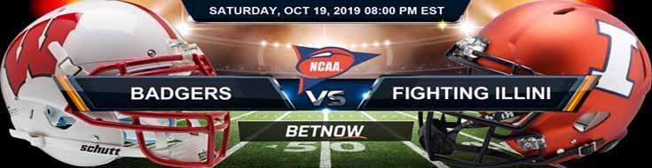 Wisconsin Badgers vs Illinois Fighting Illini 10-19-19 NCAAF Expert Picks