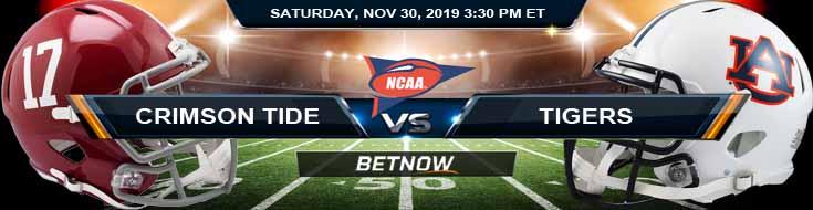 Alabama Crimson Tide vs Auburn Tigers 11-30-2019 College Odds Odds and Picks