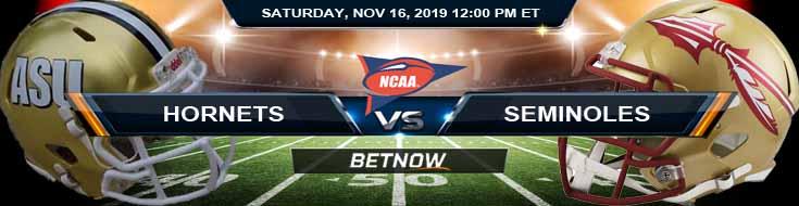 Alabama State Hornets vs Florida State Seminoles 11-16-2019 Picks Predictions and Game Analysis