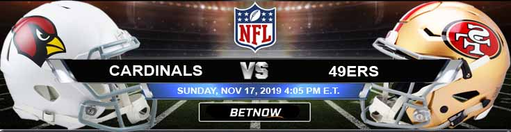 Arizona Cardinals vs San Francisco 49ers 11-17-2019 Game Analysis Picks and Predictions