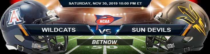 Arizona Wildcats vs Arizona State Sun Devils 11-30-2019 Online Bookmakers Picks and Predictions