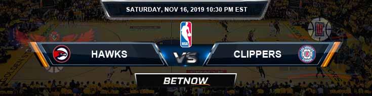 Atlanta Hawks vs Los Angeles Clippers 11-16-2019 NBA Spread and Picks