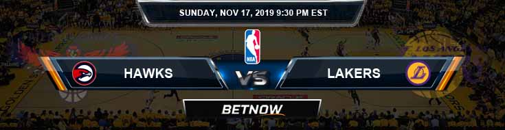 Atlanta Hawks vs Los Angeles Lakers 11-17-2019 NBA Odds and Picks