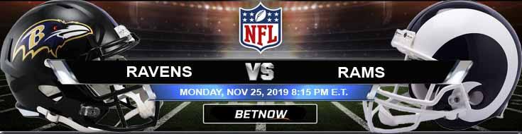 Baltimore Ravens vs Los Angeles Rams 11-25-2019 Previews, Predictions and Picks