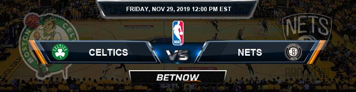 Boston Celtics vs Brooklyn Nets 11-29-2019 Picks Spread and Previews
