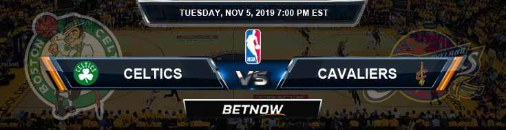 Boston Celtics vs Cleveland Cavaliers 11-05-2019 NBA Spread and Prediction