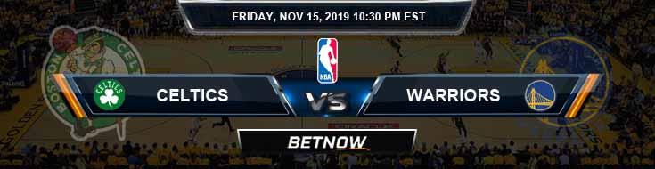 Boston Celtics vs Golden State Warriors 11-15-2019 Spread Odds and Picks