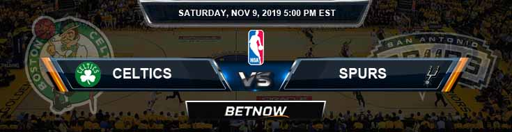 Boston Celtics vs San Antonio Spurs 11-09-2019 Odds Picks and Prediction