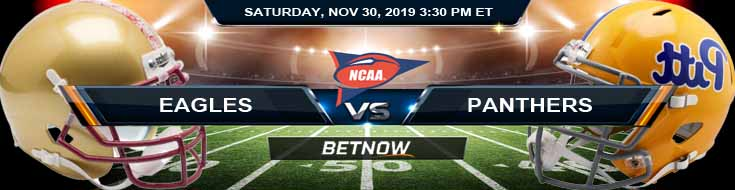 Boston College Eagles vs Pittsburgh Panthers 11-30-2019 Legal Online Sports Betting Picks and Odds