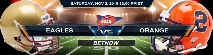 Boston College Eagles vs Syracuse Orange 11-02-2019 Spread Picks and Odds