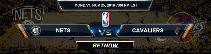 Brooklyn Nets vs Cleveland Cavaliers 11-25-2019 Spread Picks and Previews