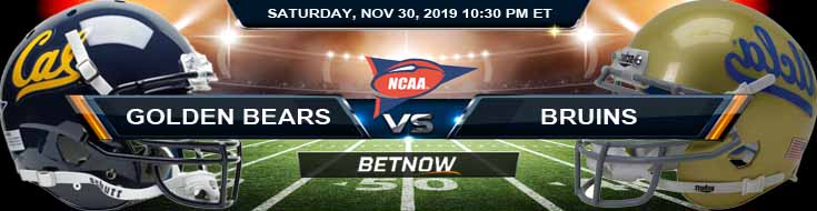 California Golden Bears vs UCLA Bruins 11-30-2019 Future Odds Picks and Predictions