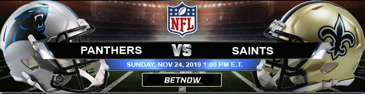 Carolina Panthers vs New Orleans Saints 11-24-2019 Predictions Odds and Spread