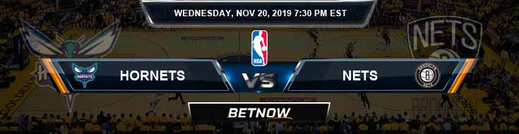 Charlotte Hornets vs Brooklyn Nets 11-20-2019 Odds Picks and Previews