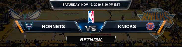 Charlotte Hornets vs New York Knicks 11-16-2019 NBA Odds and Game Analysis