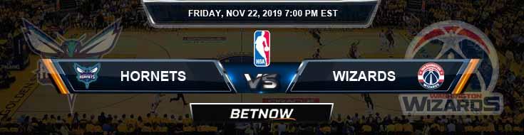 Charlotte Hornets vs Washington Wizards 11-22-2019 NBA Previews and Prediction
