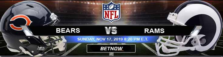 Chicago Bears vs Los Angeles Rams 11-17-2019 Preview Odds and Predictions