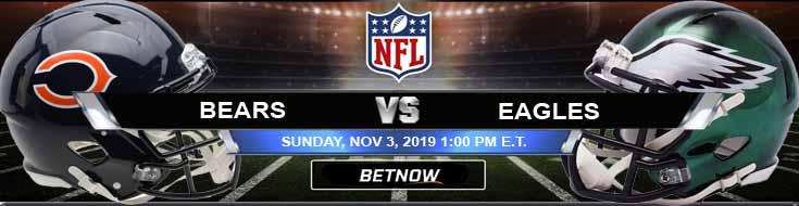 Chicago Bears vs Philadelphia Eagles 11-03-2019 Picks Predictions and Previews