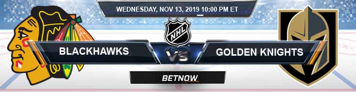 Chicago Blackhawks vs Vegas Golden Knights 11-13-19 NHL Betting Picks