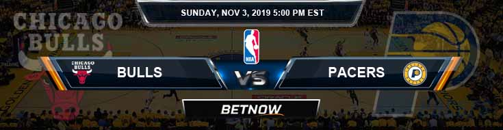 Chicago Bulls vs Indiana Pacers 11-03-2019 Odds Picks and Previews