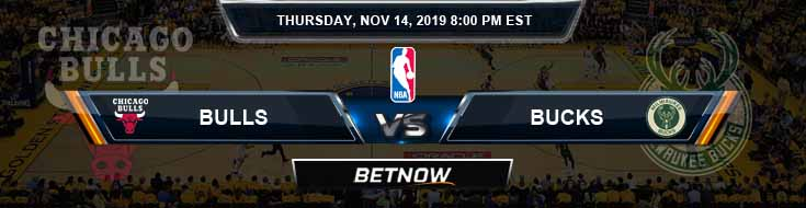 Chicago Bulls vs Milwaukee Bucks 11-14-2019 NBA Spread and Preview