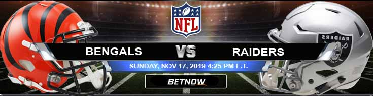 Cincinnati Bengals vs Oakland Raiders 11-17-2019 Spread Picks and Odds