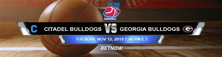 Citadel Bulldogs vs Georgia Bulldogs 11-12-2019 Preview Odds and Picks