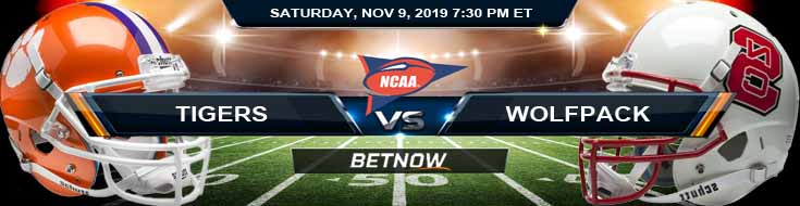 Clemson Tigers vs North Carolina State Wolfpack 11-09-2019 Game Analysis Picks and Odds