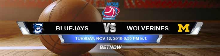 Creighton Bluejays vs Michigan Wolverines 11-12-2019 Game Analysis Picks and Spread