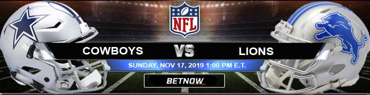 Dallas Cowboys vs Detroit Lions 11-17-2019 Previews Odds and Spread