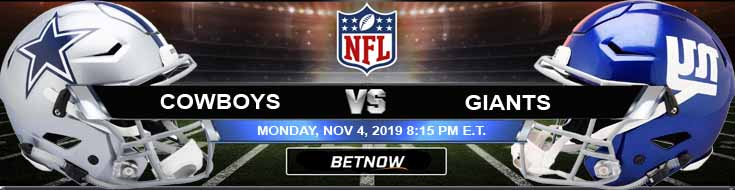 Dallas Cowboys vs New York Giants 11-04-2019 Odds Predictions and Game Analysis