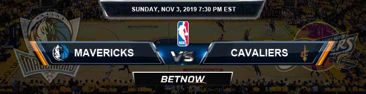Dallas Mavericks vs Cleveland Cavaliers 11-03-2019 Odds Picks and Previews
