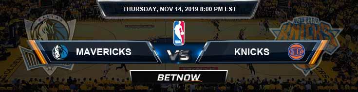 Dallas Mavericks vs New York Knicks 11-14-2019 NBA Spread and Picks