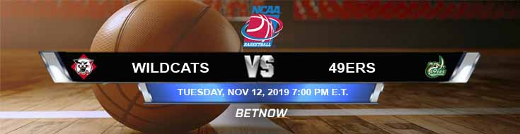 Davidson Wildcats vs Charlotte 49ers 11-12-2019 Predictions Spread and Odds