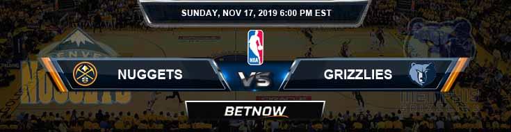 Denver Nuggets vs Memphis Grizzlies 11-17-2019 NBA Odds and Spread