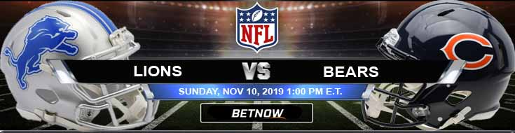 Detroit Lions vs Chicago Bears 11-10-2019 Odds Spread and Game Analysis