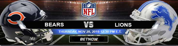 Detroit Lions vs Chicago Bears 11-28-2019 Picks Predictions and Previews