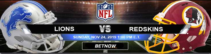 Detroit Lions vs Washington Redskins 11-24-2019 Game Analysis Picks and Preview