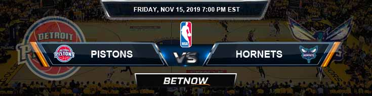 Detroit Pistons vs Charlotte Hornets 11-15-2019 Odds Picks and Previews