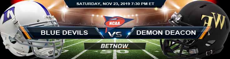 Duke Blue Devils vs Wake Forest Demon Deacons 11-23-2019 Picks, Previews and Game Analysis