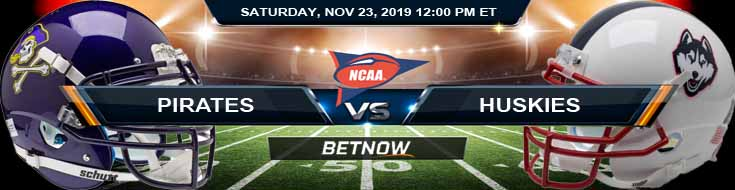 East Carolina Pirates vs UCONN Huskies 11-23-2019 Picks Game Analysis and Odds